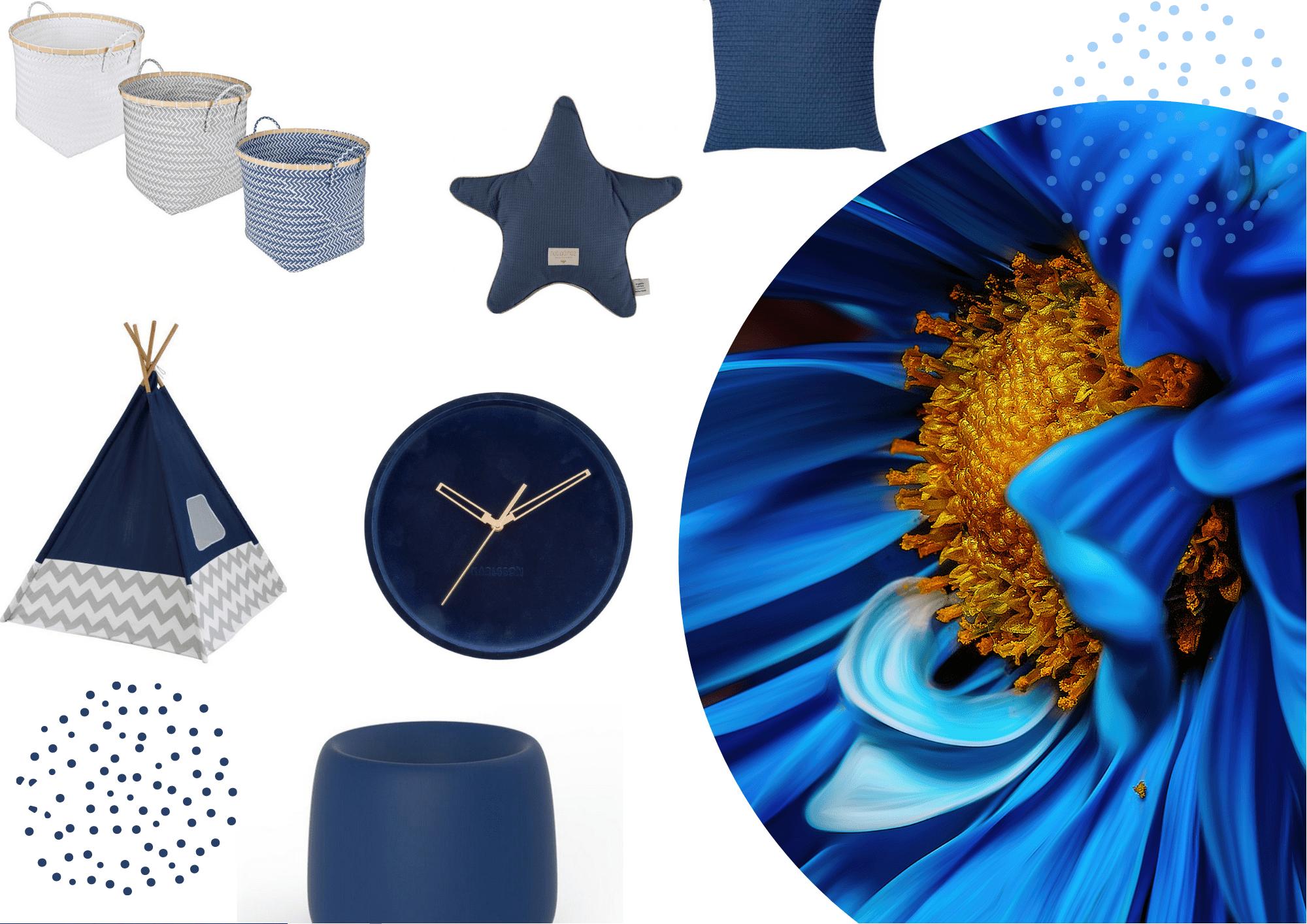 Nápady v modré barvě do dětského pokoje